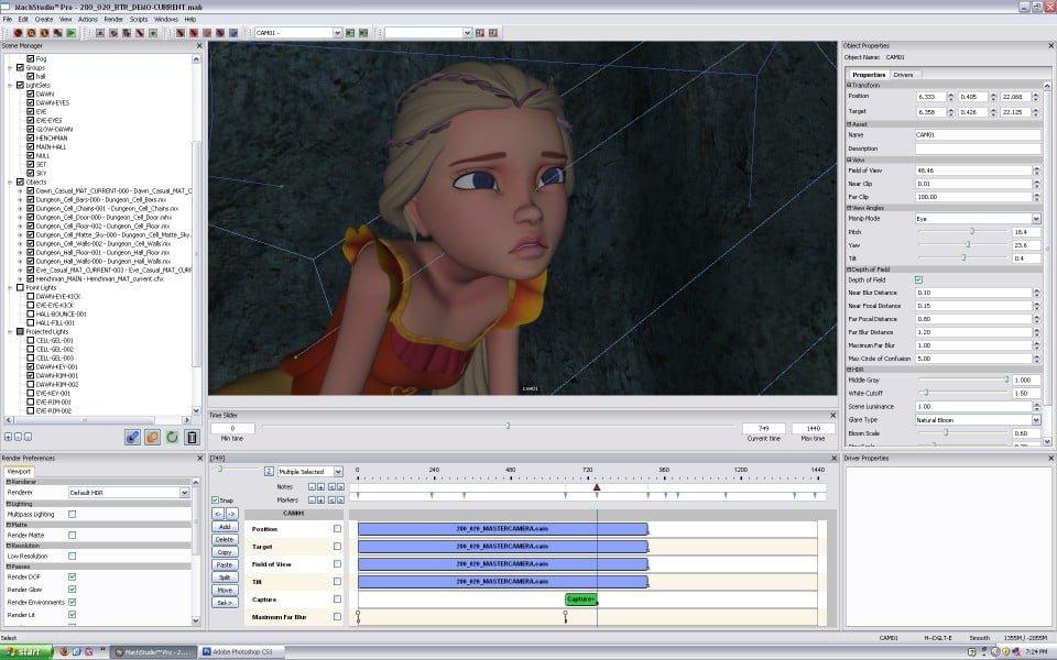 Schermata del programma MachStudio Pro 2