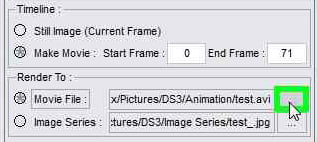 In the Render Settings tab check Movie File to Render an animation: