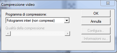 Select the video compression