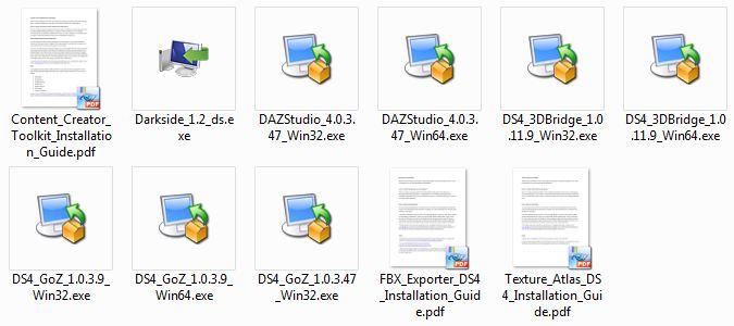 File di installazione di DAZ Studio 4 Pro