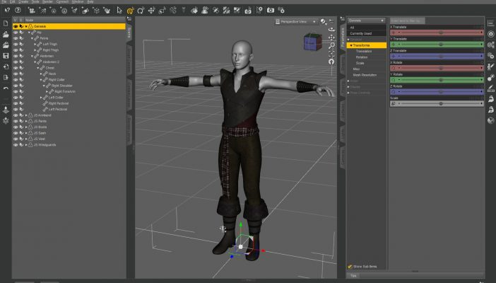 DAZ Studio 4 Pro graphical user Interface