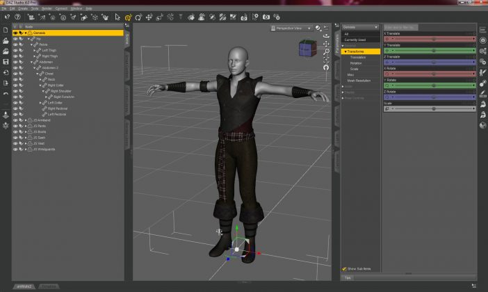 Interfaccia DAZ Studio 4 Pro