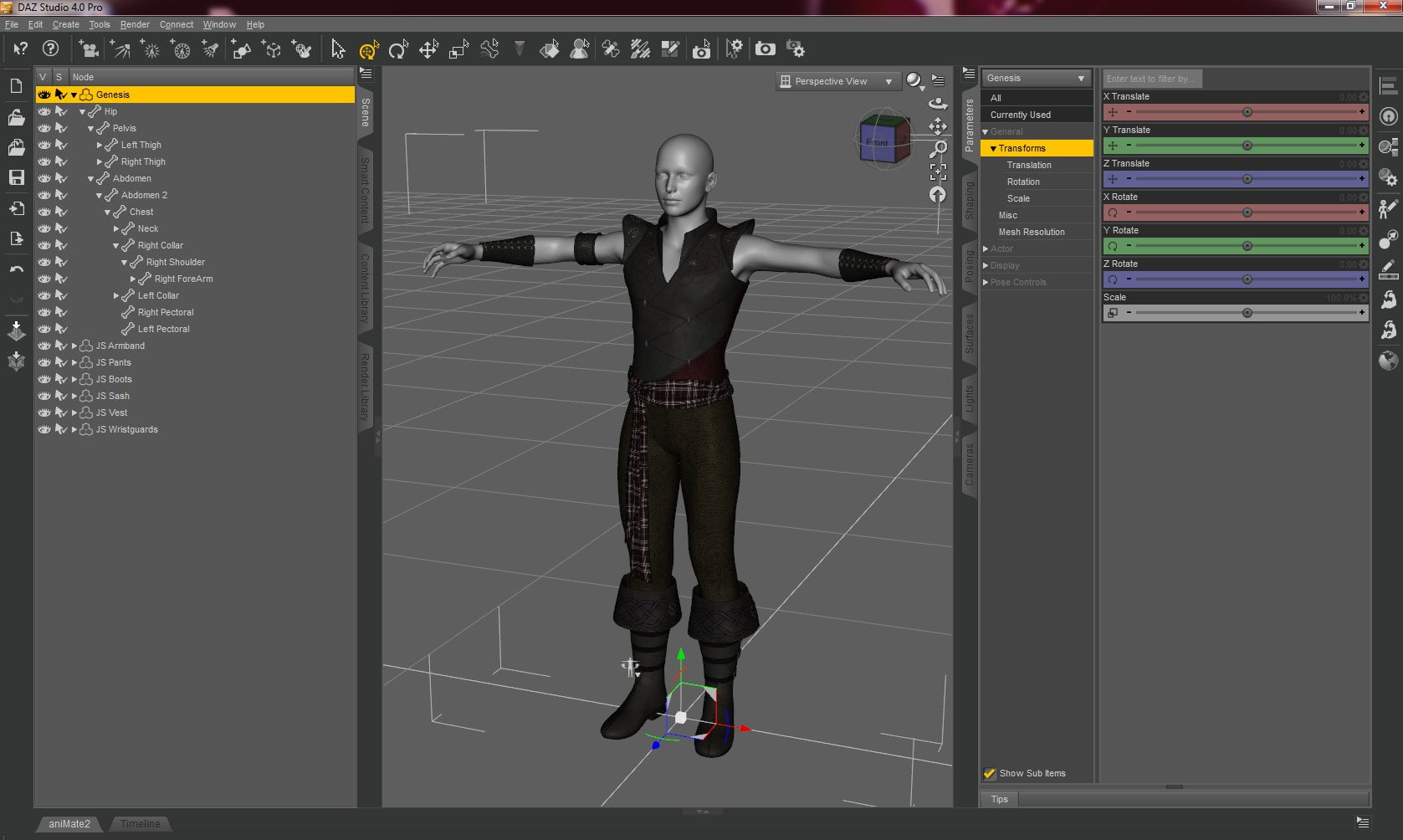 graphical user interface of daz studio 4 pro briefly explained