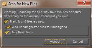 Opzioni per la ricerca di nuovi file