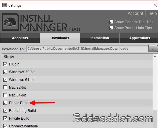 Install Manager spuntate Public Build