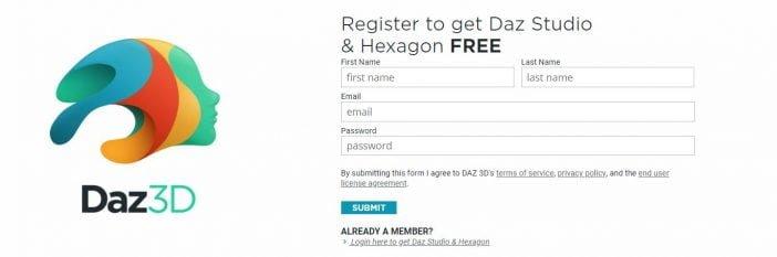 Registrati per ottenere i contenuti gratuiti disponibili su DAZ 3D