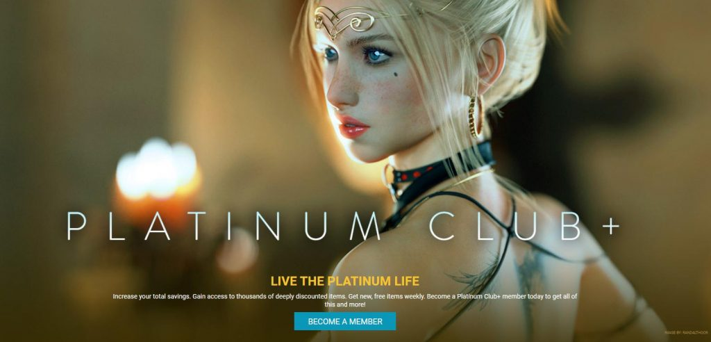 DAZ 3D Platinum Club +